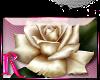 *R* Ivory Rose Sticker