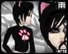 Paw Kitty Hoodie Black