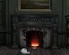 fireplace backdrop