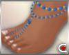 *SC-Bead Sandals Blue