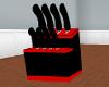 couteau rouge et noir