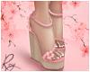 Sakura Pink Wedge Heels