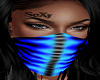 Cool Blue Flame Mask