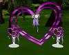 purple wedding heart