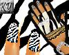 *KY* Zebra Style Gloves
