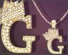 Gold Chain G Letter Fem
