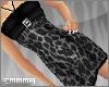 E  Leopard Dress Grey
