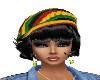 REGGAE HAT/ BLACK HAIR