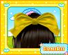 KID YELLOW HAIR BOW