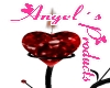 ~Angel~ Red Heart Candle