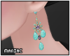 *P Turquoise Earrings