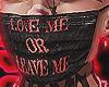 U LOVE ME? LOL OK