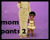Kids Mom Gold Fall Pants