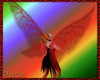 Crystal fae wings - red