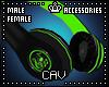 Green Headphones M/F
