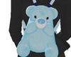 TeddyBear Backpack Blue
