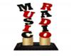 Radio music stand