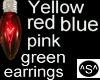 ^S^ Red Bulb Earrings