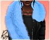 Blue Faux Fur Stole