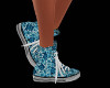 Blue Flower Sneakers