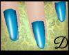 {D} Electric Blue Nails