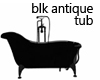 Blk Antique Tub