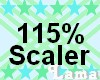 115 % , kid head scaler