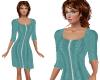 TF* Teal Modest Dress