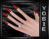 ~Y~Goth Red Nails