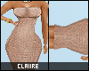 C|Mx Nude Pencil Dress