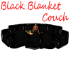 Black Blanket Couch