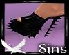 Black Urchin Latex heels