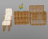 dinosaur crib & chair