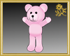 Outline Pink Teddy