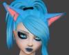 Cyan Kitty Ears