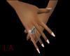 Onyx heart dainty hand R