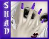 {SP}Purple Stripe Nails