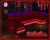 Red Blue Neon Sofa