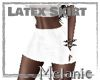White Latex Skirt