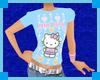 [E] Kitty Blue Top