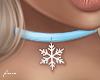 f. snowflake choker blue