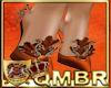 QMBR Heel Shimmer Ginger