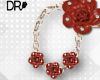 DR- Country rose earring