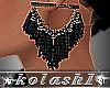 K*Earrings Black net