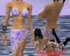 Bikini with Sarong Blue