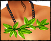 GREEN LEAVES NECKLACE -F