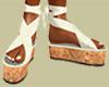 Off White & Cork Sandals