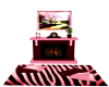 $A$ PINK ZEBRA FIREPLACE