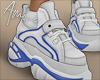 $ WhitexBlue Sneakers