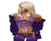 Caot Purple Leopard Fur